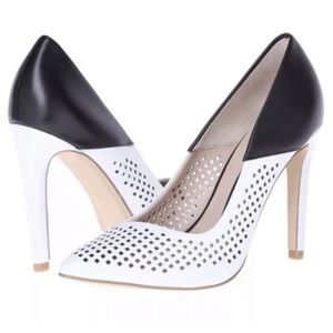 French connection black and white heel